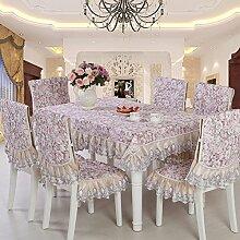 Ländliche tischdecke/home dining chair cover/einfache stoff-E 110x160cm(43x63inch)
