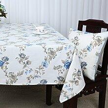 Ländliche Tischdecke,Leinen Tabelle Tuch Tischdecke,Couchtisch Tuch Schreibtisch Couchtisch Rechteckige Tischdecke-H 150x220cm(59x87inch)