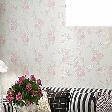 ländliche Vlies-Tapeten/Warmen floral Schlafzimmer Tapete/Das Wohnzimmer Studie Wallpaper/Vlies-Tapeten-B