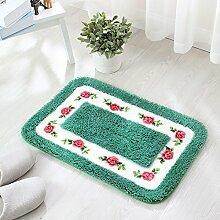 Ländliches Wasser Badematte/Stepping/Fußmatte/Schlafzimmer Badezimmer Badezimmer Anti-Rutsch-Matte-B 40x60cm(16x24inch)