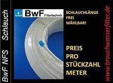"""LÄNGE IN METER FREI WÄHLBAR BwF Kühlschrankschlauch 6mm (1/4""""), Wasserschlauch für Side by Side Kühlschrank, Wasserfilter, Umkehrosmoseanlage, Aquarium (12 Meter)"""
