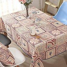 Längliche tischdecke aus baumwolle und leinen tischdecken familie retro lÄndlichen tischtuch-tuch waschbar-A 110x160cm(43x63inch)