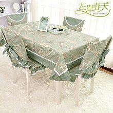 Längliche tischdecke,garten tischdecke,tischtuch,stoff spitze tischdecke-A 150x150cm(59x59inch)