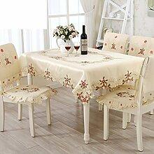 längliche Tischdecke/ Tischdecke Tischtuch/Chinesische Stickerei Tischdecke/Garten-Tischdecke-A 130x175cm(51x69inch)