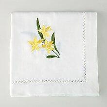 Längliche tischdecke/weiße stickerei tischtuch/tischtuch-B 85x85cm(33x33inch)
