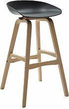 Lässig Sitz Stuhl, Mode Einfachen Massivholz Bar