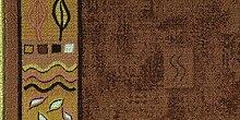 Läufer Schlinge Rumba Bordüre Braun in 20 Größen