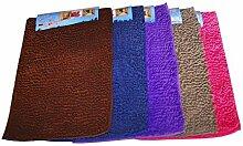 Läufer Teppich Badematte Badezimmer Matte Badvorleger Duschmatte WC 80 x 50 cm Kuschelig & Weich für Toilette, Zimmer, versch. Farben (Pink)