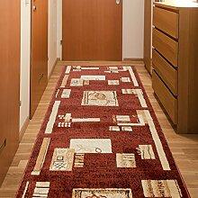 Läufer Teppich Flur Brücke - Muster in Braun - Teppichläufer Klassisch Kollektion 120 x 250 cm