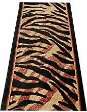 Läufer Teppich Flur Brücke - Muster Tierfell in