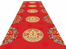 Läufer Teppichläufer Roter, Rutschfester Flur-
