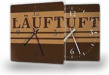 Läuft - Lautlose Wanduhr mit Fotodruck auf Polycarbonat | geräuschlos kein Ticken Fotouhr Bilderuhr Motivuhr Küchenuhr modern hochwertig Quarz | Variante:30 cm x 30 cm mit weißen Zeigern - GERÄUSCHLOS