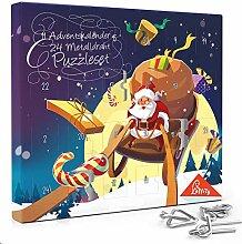 Laffity Adventskalender 2020, 24 Stück Knobelei
