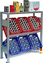 Lagerknecht Getränkekistenregal 6 Kisten Made in