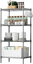 Lagerregal mit 4 Ablage, Küchenregal Modernes