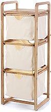 Lagerregal ZHIRONG mit Schublade 3 Schichten Badezimmer Die Ecke Organizer Wohnzimmer Schlafzimmer Bodenstehende Massivholz Regale 30 X 33,5 X 92 cm