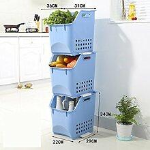 Lagerung Obst und Gemüse Lagerung Korb ( Farbe : Blau )