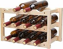 Lagerungsrack Massivholz Klapp 12-Flasche Wein