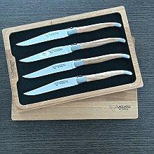 Laguiole en Aubrac 4er Set Steakmesser,