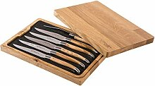 Laguiole en Aubrac 6 Steakmesser Olivenholz -
