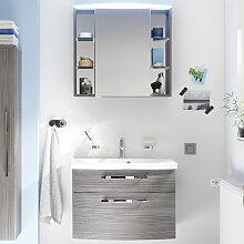 Laguna Joy Badmöbel Set 2-1 - 71 cm, mit Spiegelschrank Serie A, Einzelwaschtisch und Waschtischunterschrank- B: 712 H: 2000 T: 510