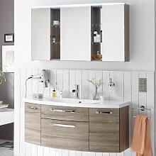 Laguna Joy Badmöbel Set 2-3 - 121 cm, mit Spiegelschrank Serie A, Einzelwaschtisch und Waschtischunterschrank- B: 1212 H: 2000 T: 495