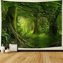 Lahasbja Wandteppich mit grünem Baum im