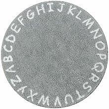 Lahome ABC Alphabet Kinderteppich rund – 91,4 cm