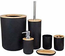 Laipi Bambus Holz Badezimmer Zubehör Set, 6 cs