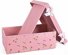 laixing Rosa Schleife Organizer Unterwäsche Schrank Schublade Box Trennwand Socken für Krawatten BH Fall, Pink, S
