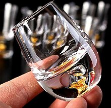 LAJIXIAOBAI bleifreies Kristallglas Wein Goldfolie