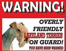 Lakeland Terrier Guard Dog Metall Schild 161
