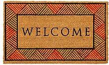 LAKO Fußmatte, Kokos, 603 Welcome mit Rahmen, 75