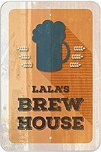 "Lala 's Brew House–hausgebrautem Bier Bar Pub Club Kunststoff Schild, plastik, 12"""" x 18"""" (30.5cm x 45.7cm)"