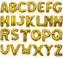 lala Pink 26 Ballon Buchstaben in Gold, 16 Zoll