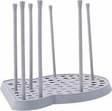 Lalang Cup Ablauf Organizer Halter Tasse Trocknen Rack Flasche Trocknen Rack, Kitchen Organizer Küchenutensilien Halter (Gray)