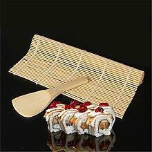 Lalang DIY Sushi-Rollen Sushi Löffel Ein Satz Sushi Bambus Vorhang Sushi-Reislöffel Sushi-Werkzeuge