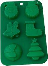 Lalang Grüne Weihnachts Silikon Backform Kuchenform DIY Schokolade Fondant Kuchen dekorieren Werkzeuge
