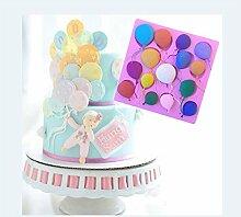 Lalang Rosa Ballon Silikon Fondant Kuchenform Fondant Schokoladenform, DIY Kuchen dekorieren Werkzeuge