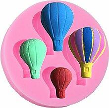 Lalang Rosa Heißluft -Ballon-Form DIY Kuchen Fondant Schokoladenform Backen-Werkzeuge