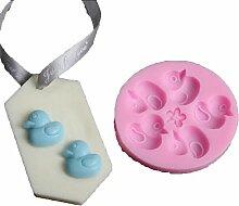 Lalang Rosa Kleine Enten Form Kuchenform Fondant Schokoladenform, DIY Kuchen dekorieren Werkzeuge