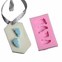 Lalang Rosa Kleine Füße Form Kuchenform Fondant Schokoladenform, DIY Kuchen dekorieren Werkzeuge