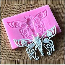 Lalang Rosa Schmetterling Motive Silikon Fondant Kuchenform Fondant Schokoladenform, DIY Kuchen dekorieren Werkzeuge