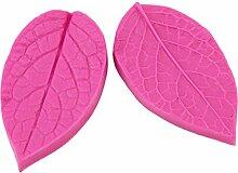 Lalang Rose Red Leaves Type Form Silikon Fondant Kuchenform Fondant Schokoladenform, DIY Kuchen dekorieren Werkzeuge