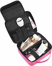 Lalang Rose rot Multifunktional Kosmetik Organizer-Professionelle Make-up Fall-Reise Make-up Werkzeuge Container