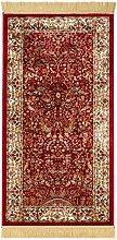 Lalee  347017874  Klassischer Teppich mit Fransen / Weich / Seidenglanz  / Muster : orientalisch / Rot / Grösse : 70 x 140 cm