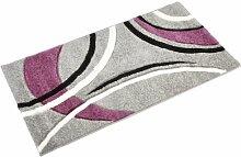 Lalee  347166855  Moderner Designer Teppich / Konturenschnitt  / Silber / TOP Preis / Grösse : 80 x 150 cm