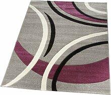 Lalee  347166893  Moderner Designer Teppich / Konturenschnitt  / Silber / TOP Preis / Grösse : 200 x 290 cm