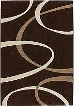 Lalee 347255023 Hochwertiger Designer Teppich mit