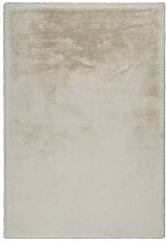 Lalee Edler weicher Kuschelteppich, Creme, 120 x